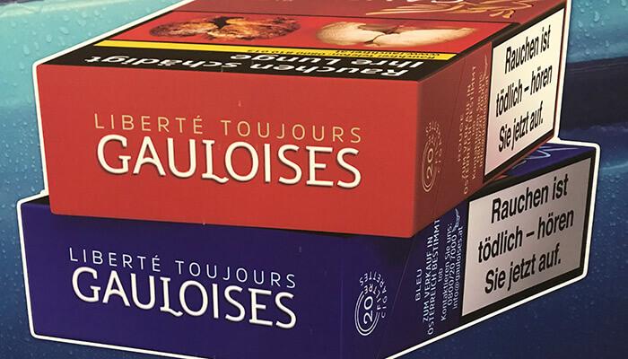 Gauloises Zigarettenpackung